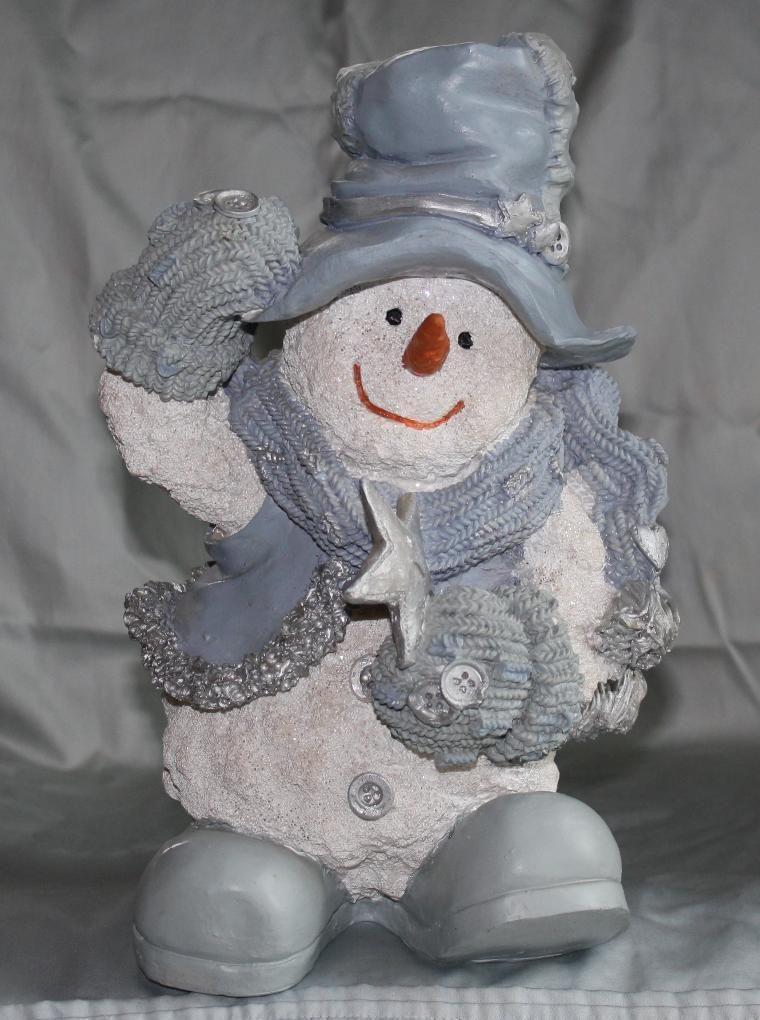 Snowmen Lightbulb Ornaments