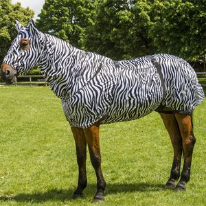 Equi Theme Zebra Sweet Itch Fly Rug Fly Rugs Zebra Horse Blankets