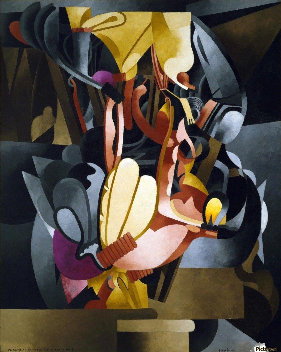 Francis Picabia, I See Again in Memory od My Dear Udnie, 1914. Dipinti su macchine, ingranaggi e componenti meccaniche che alludono al culto moderno per la macchina e a rapporti sessuali.