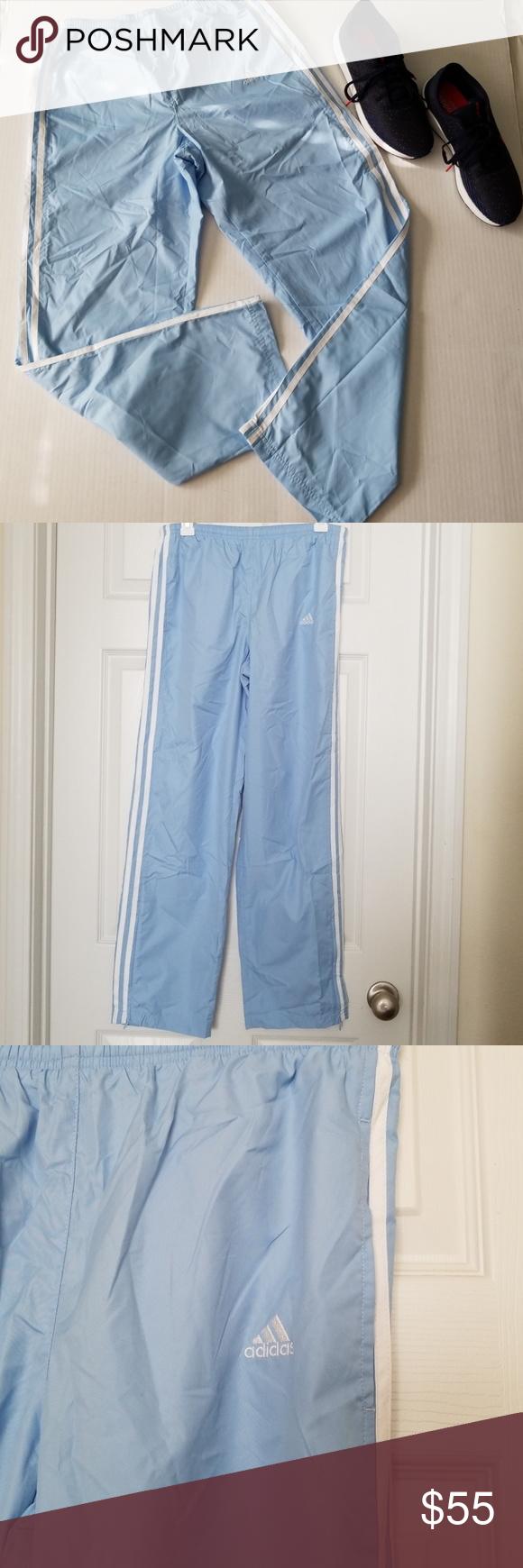 adidas pants light blue