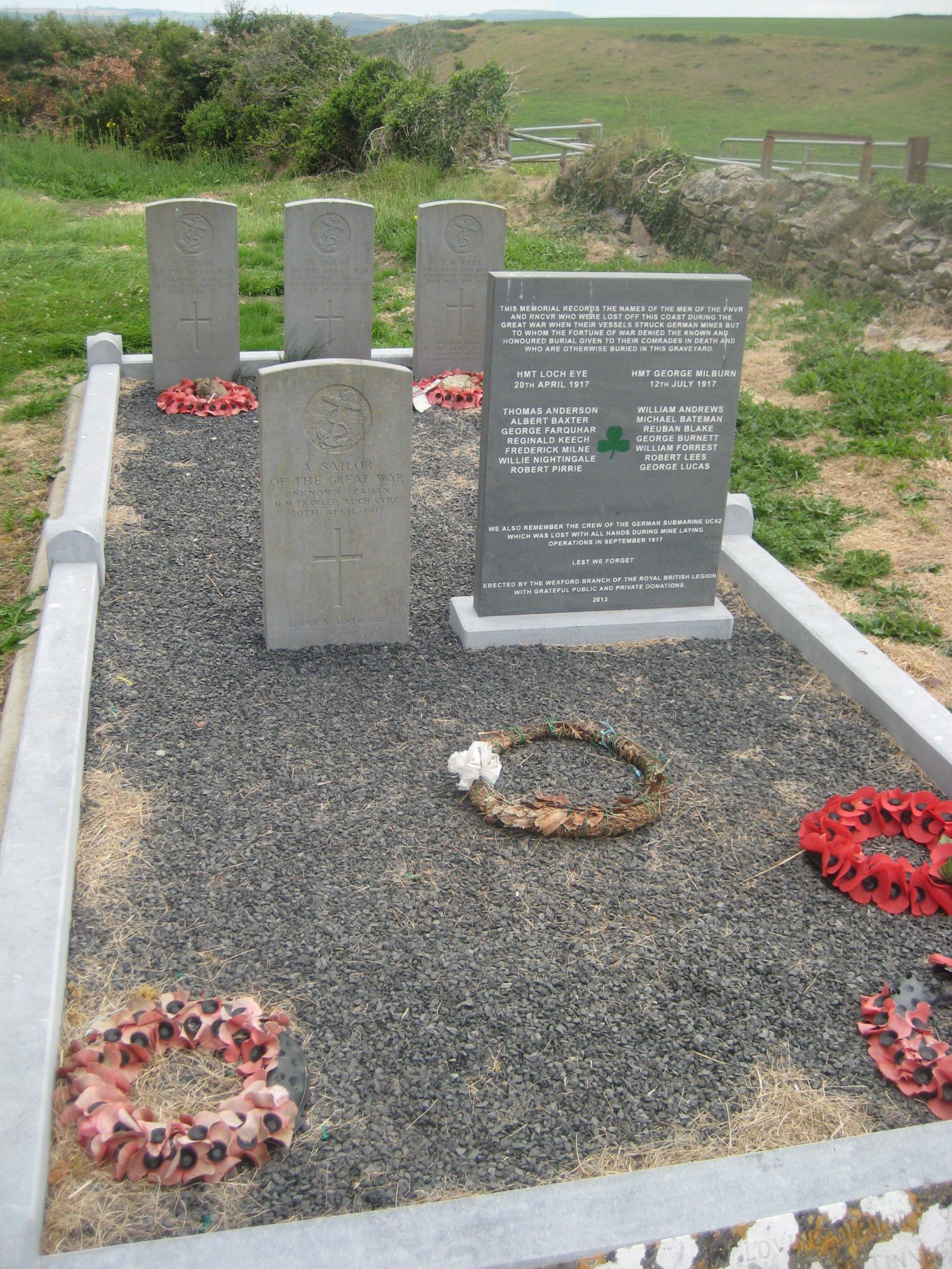 Meegesleept in de Grote Oorlog - Monument Templetown, Hook Island, Ierland.