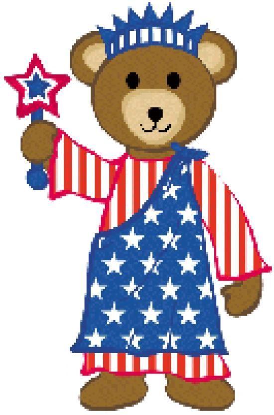 patriotic teddy bear clip art clip art patriotic clipart 4th rh pinterest com au americana suit clipart free vintage americana clipart