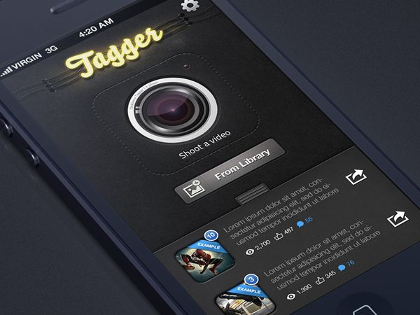 ClickBerry Tagger tag view by Alex Bender, via #Behance #Mobile