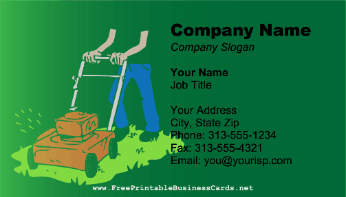 printable business card shows