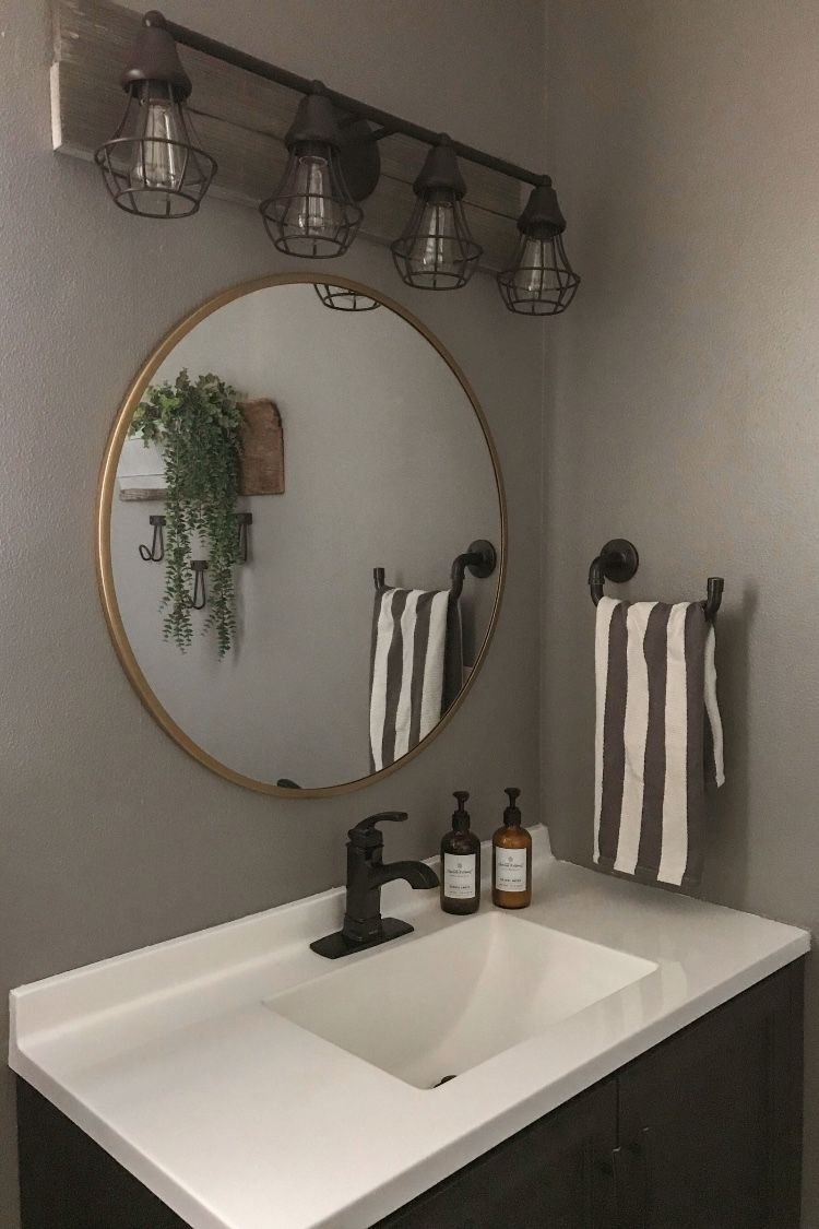 Rustic Industrial Farmhouse Bathroom (on a budget!) Reveal ...