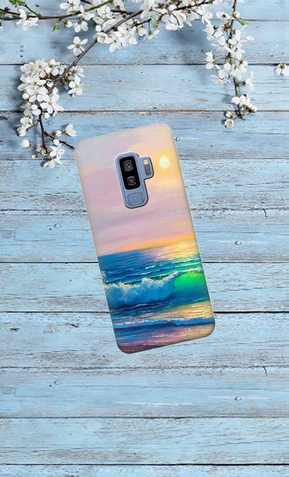 Paysage, oil pattern, samsung A50, A70, A80, S10 Plus, S9 case, S8 cas