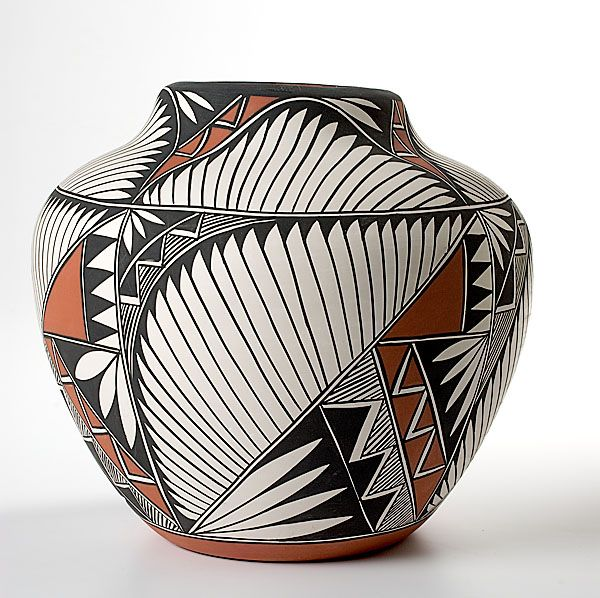 Original Native American Indian pottery art by Mark Wayne Garcia ...