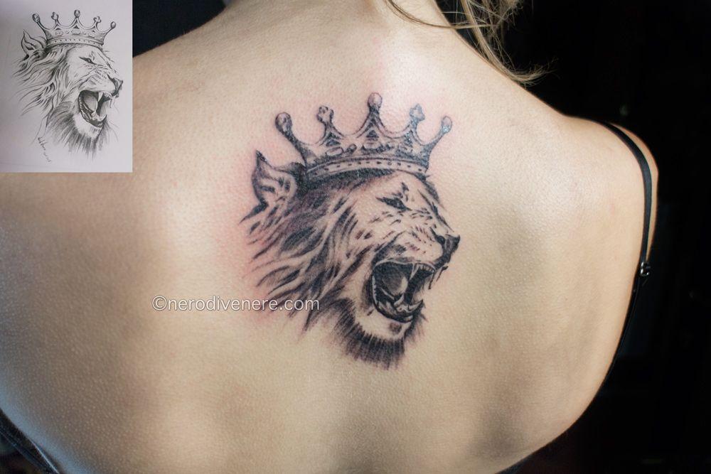 tattoo tatuaggio lion leone corona cheyenne