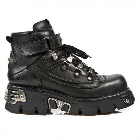 Zapatos negros vintage New Rock para hombre sEZTCpLf6