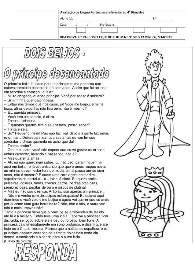 Prova De Lingua Portuguesa O Principe Desencantado