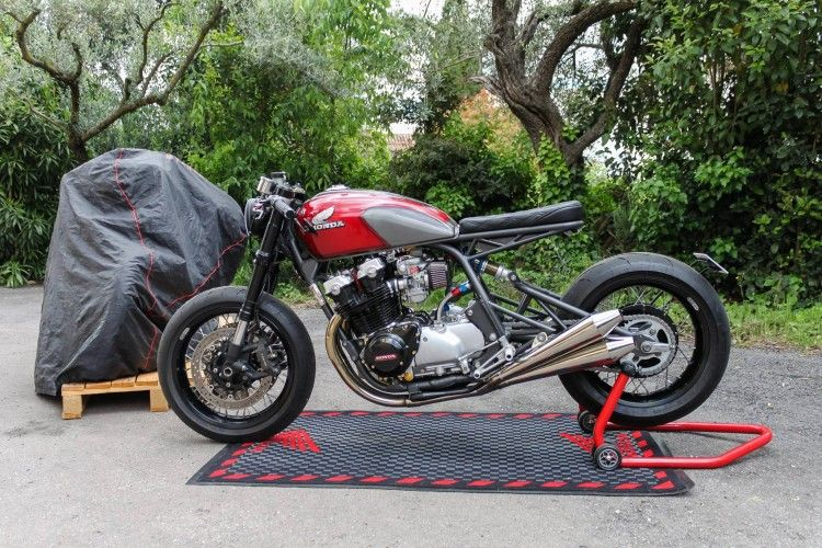 Honda Cb750 Monoshock By Nicolas Motors Cafe Racer Bikes Cafe