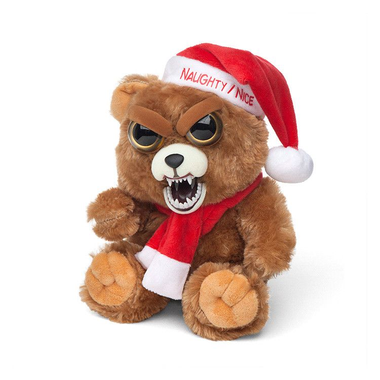A Feisty Pets Christmas Bear That Changes From Nice To Naughty When Squeezed Christmas Animals Christmas Bear My Spirit Animal