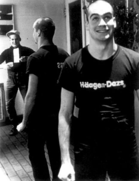 photos of Henry Rollins (and Ian MacKaye) back when he worked at a Häagen-Dazs, circa 1981.