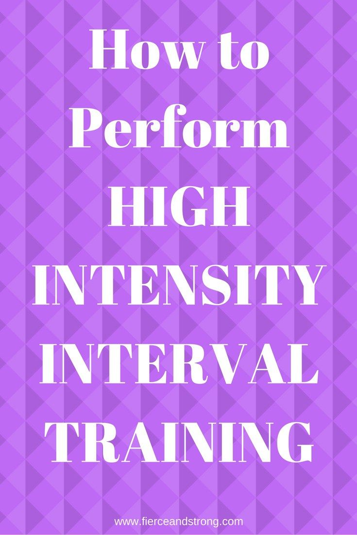 How to Perform High Intensity Interval Training | Many times we just go through the motions with our workouts. Its time to get serious if you really want to see results. If you feel like your workouts need to be kicked up a notch, this article is for you! Click through to see how to perform HIIT workouts!