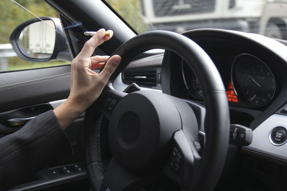 Smoking while driving law