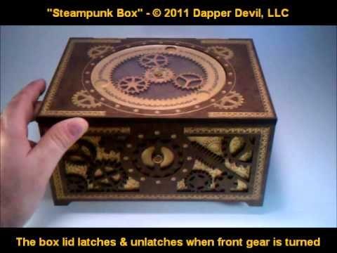 Steampunk Box - working planetary gears & gear latch