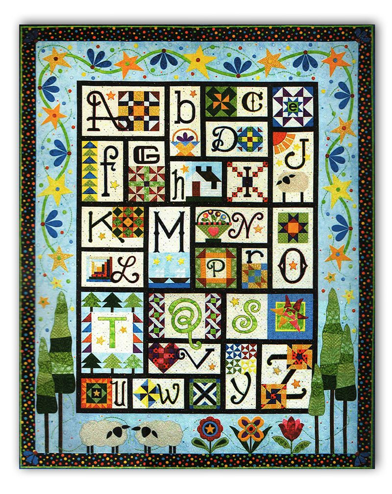 A to Z for Ewe and Me! Quilt Pattern by Janet Stone | Sampler ... : alphabet quilt patterns - Adamdwight.com