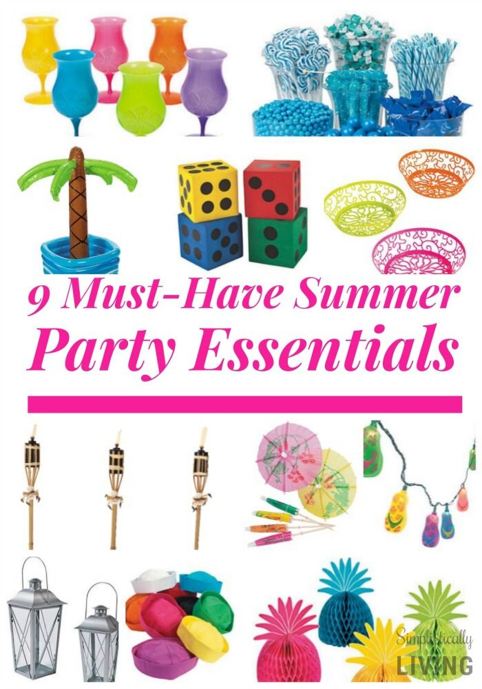 9 Must Have Summer Party Essentials Summer Party Laua Party Ideas Party Food Themes
