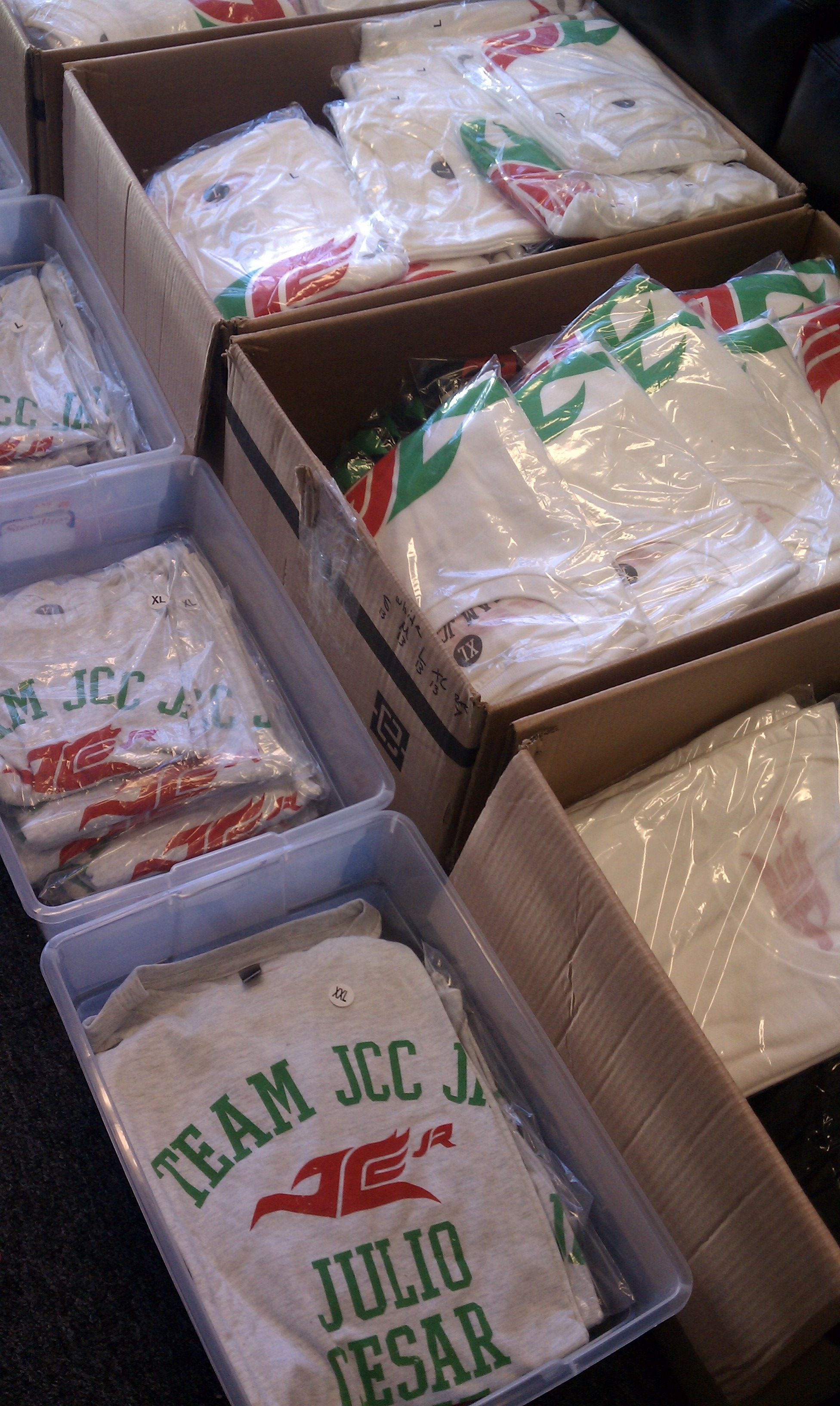 Ready to ship your JCC JR shirts.
