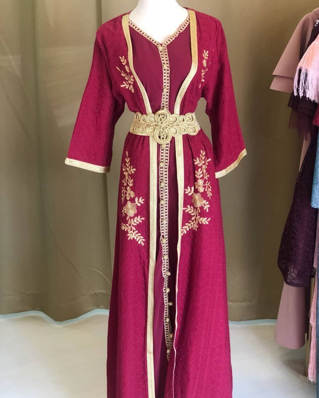 Forever I Love Moroccan Style In Jalabyat And Some Occasions A Maron Colour With Gold Details Hand Made Piece Available In Alyaa To Clothes Fashion Kimono Top