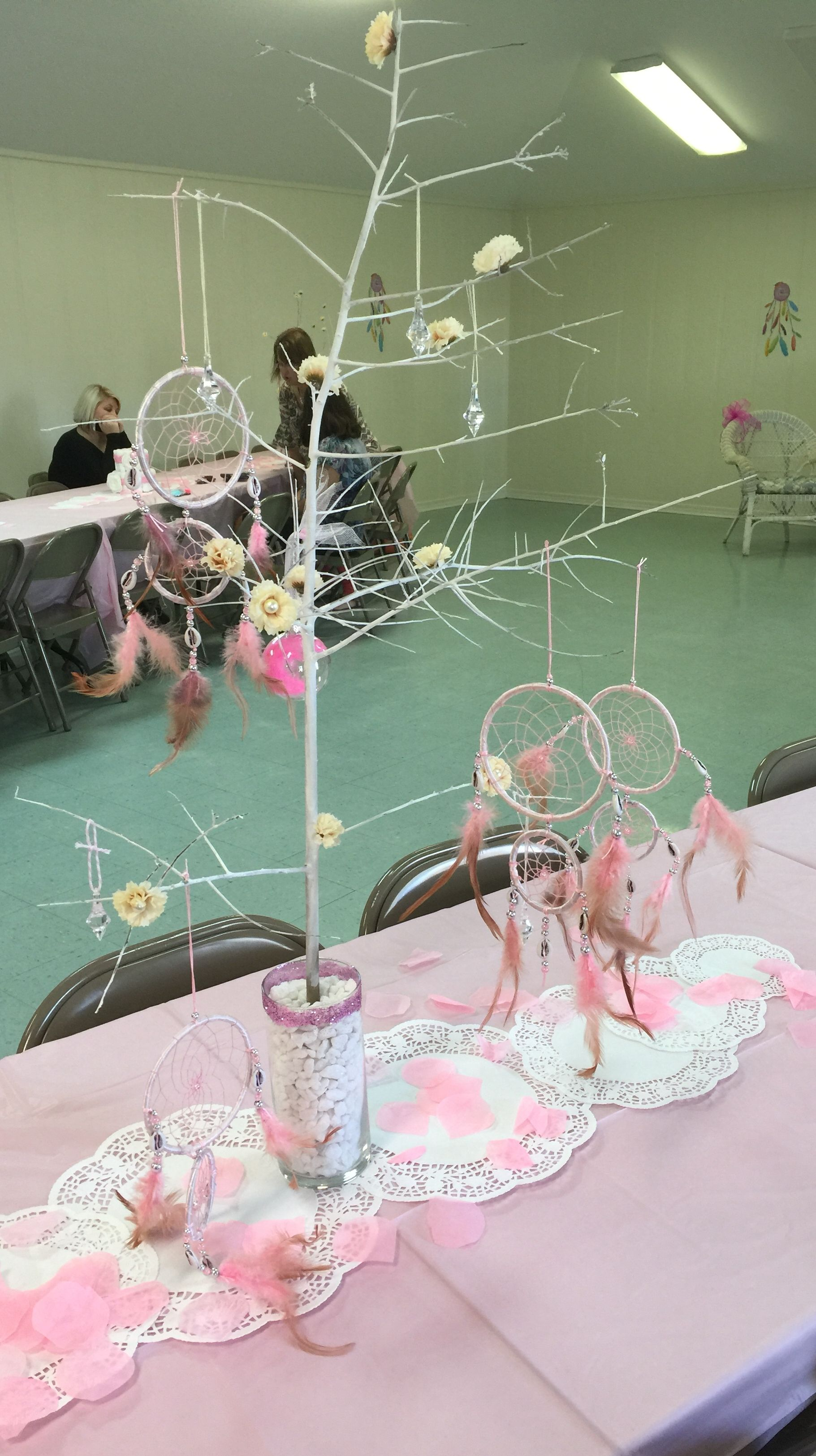 Cooley Clifton Baby Girl Shower: Dream Catcher Themed Centerpieces