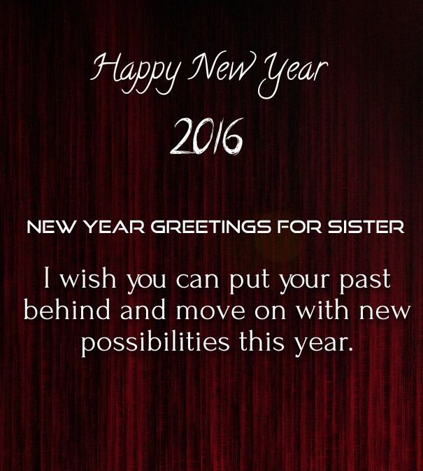 Keeping Christmas All The Year: Wishes For The New Year To Sister 2016