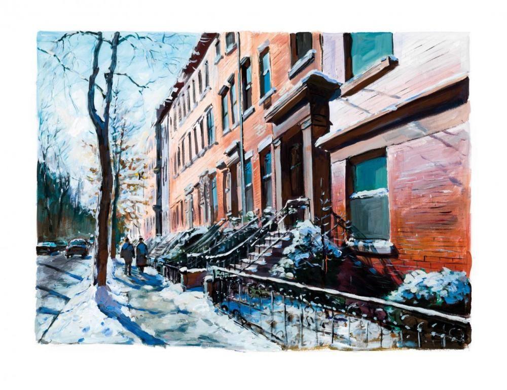 Poster Wall Art Home Decor Brooklyn Heights Art//Canvas Print D