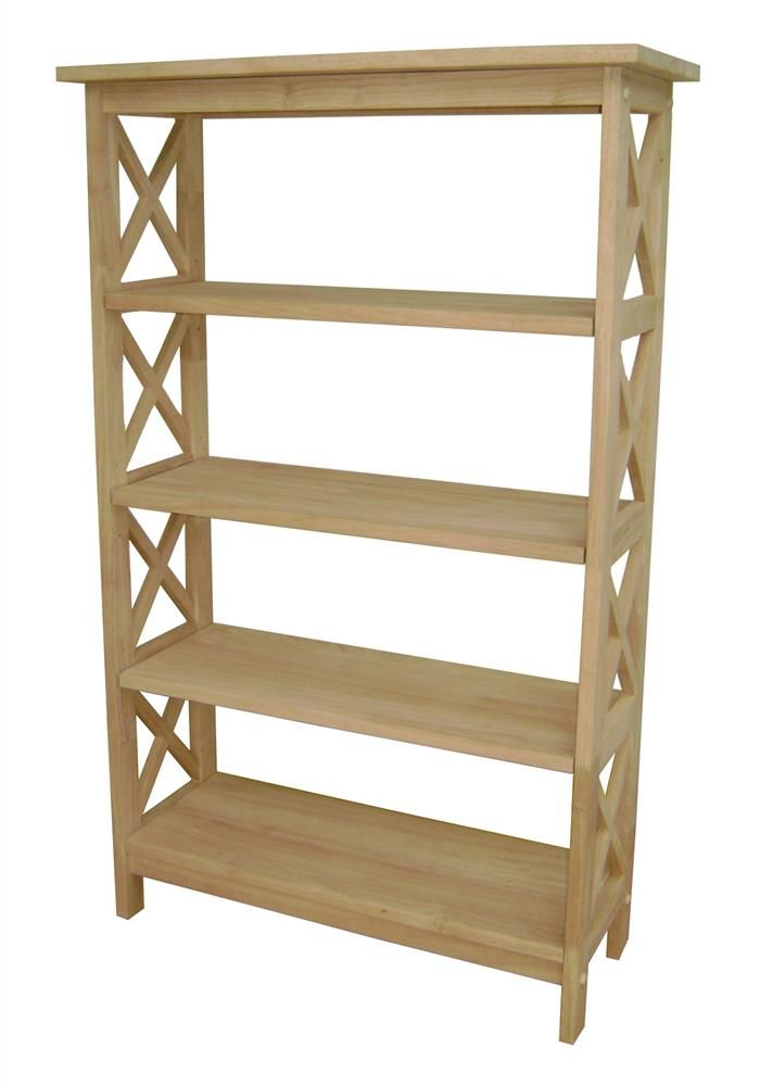 5 Tier X-Sided Unfinished Shelf Unit