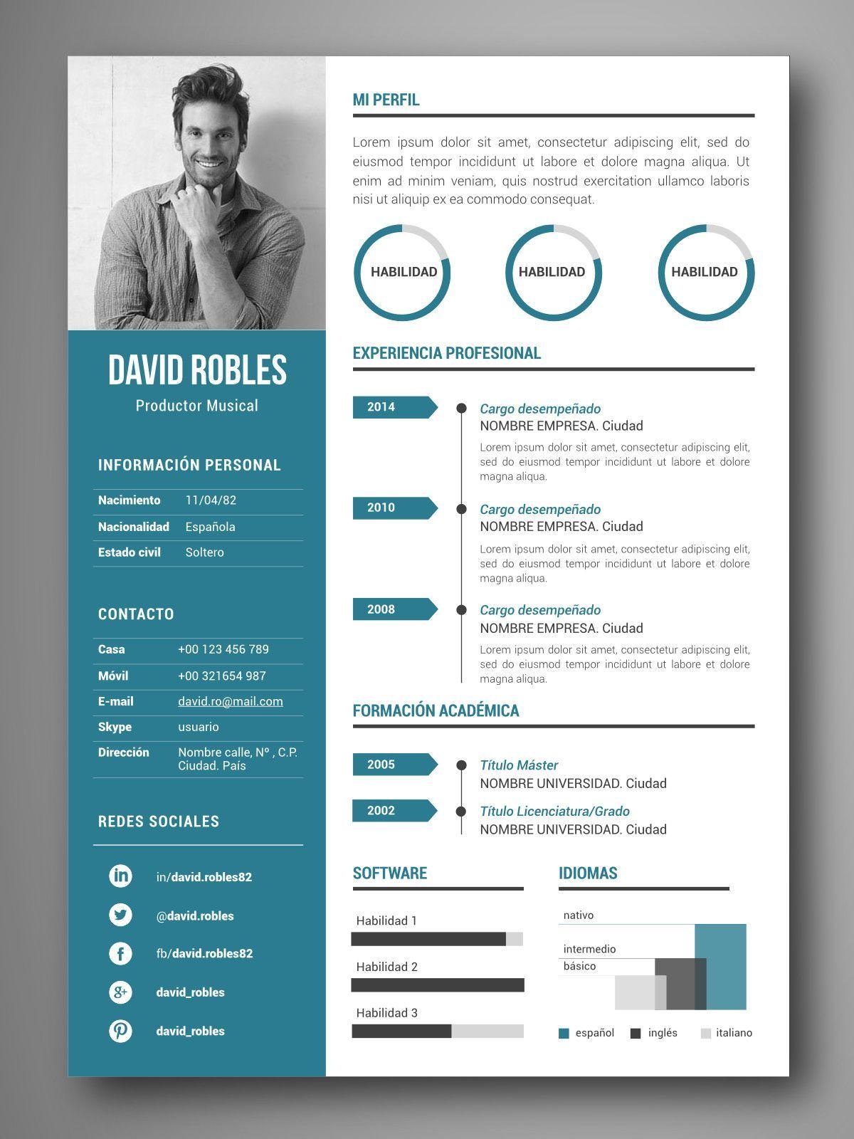 Curriculum_VIGO.jpg (1200×1600) Resume design creative