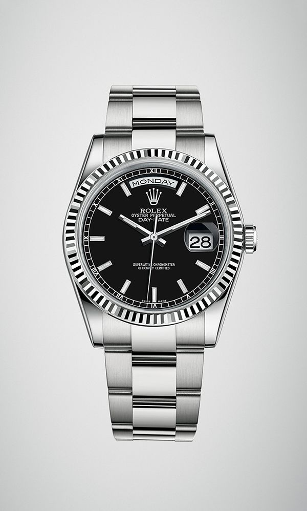 Rolex Day-Date 36 in 18ct white gold with a fluted bezel 8d9d164012