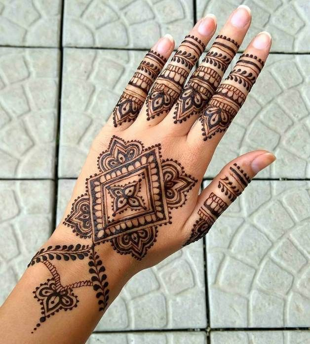 Henna Patterns For Hands – The Traditional Body Artwork ~ iMehndi.com