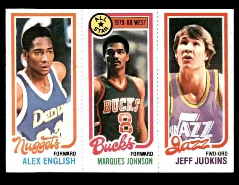 198081 topps basketball englishjohnson allstarjudkins