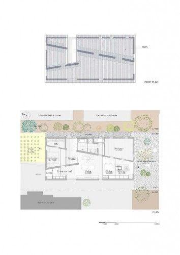 《日本建築Case Studies》斜柵屋頂下的一眼穿透 @ 綠‧建築家 :: searchouse.net