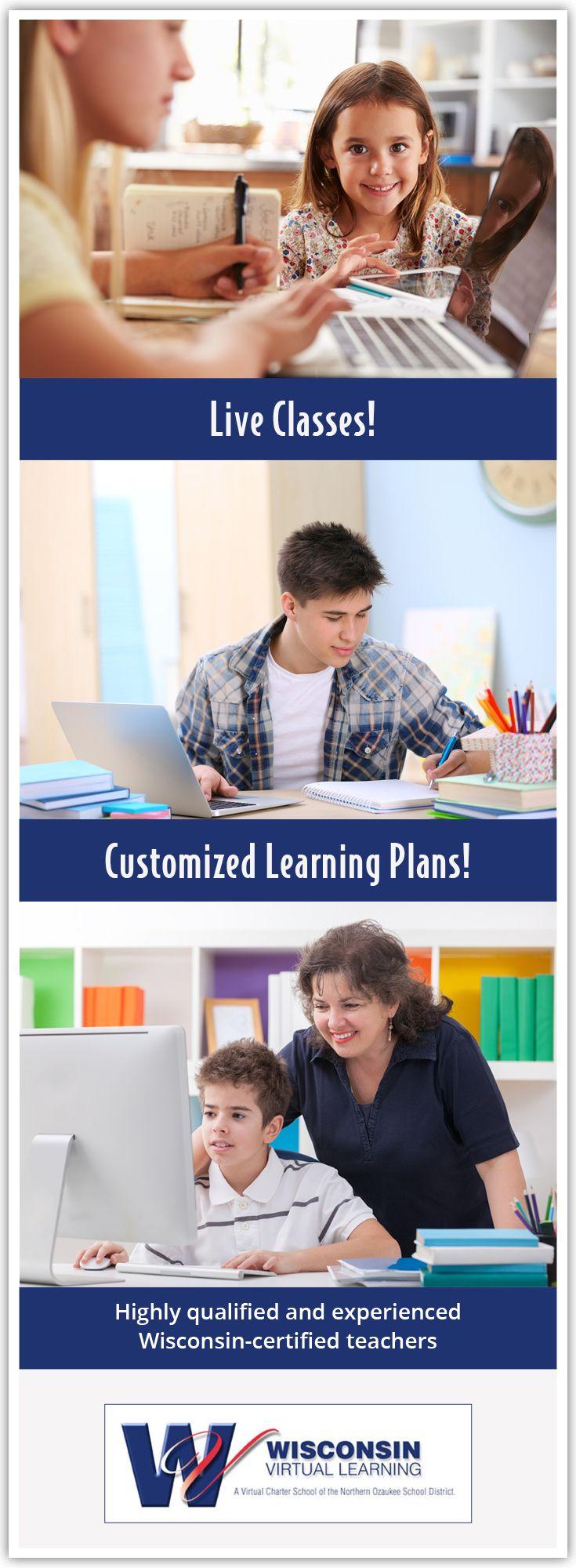 Wisconsin Online High School, Online Middle School, Online