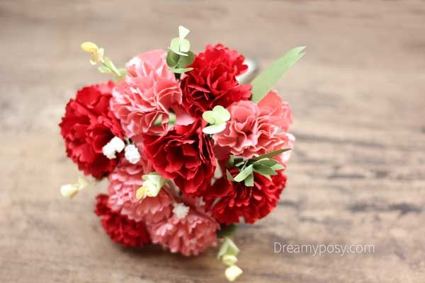 How To Make Carnation Paper Flower Free Template Easy Paper Flowers Diy Wedding Bouquet Flowers