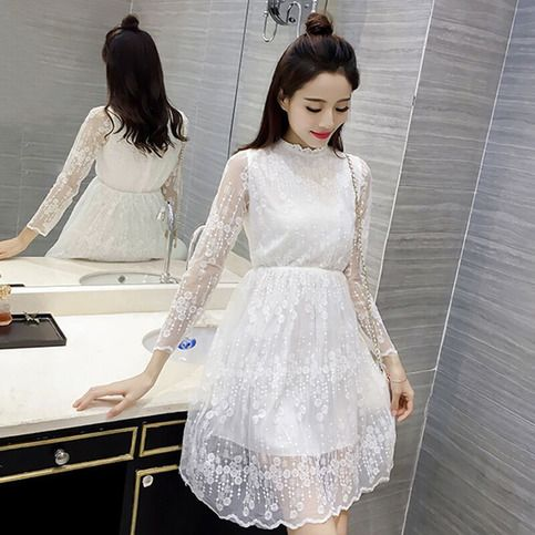 1a0b6f25759 White Kawaii Long Sleeve Lace Dress sold by Bella . Shop more products from  Bella on Storenvy