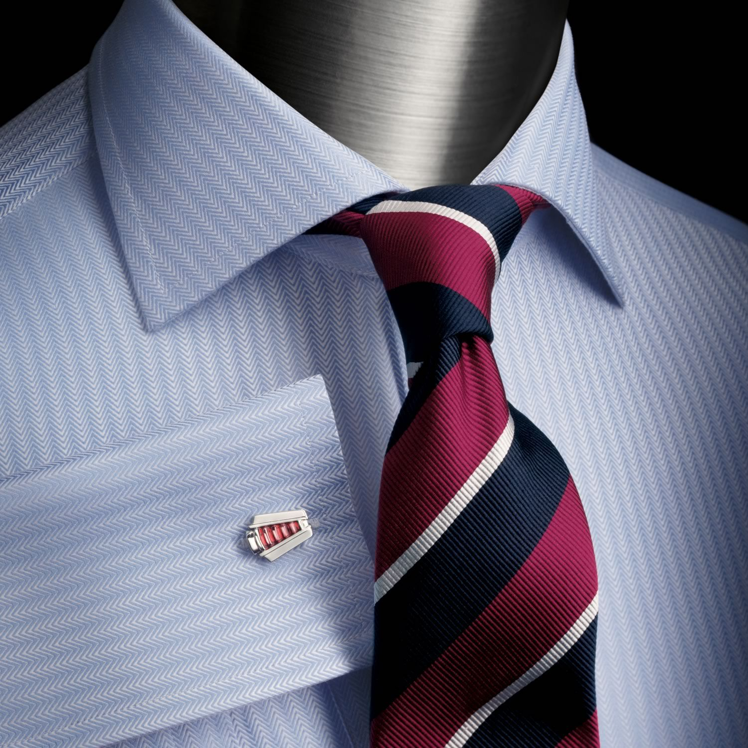 Herringbone Dress Shirt | Charles Tyrwhitt Black Label ...