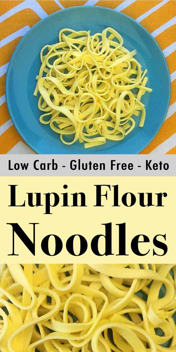 Low Carb Lupin Flour Noodles are easy to make with only 3 ingredients. And each serving has just 2g net carbs. This is the best Keto egg noodle out there. #lowcarbrecipes