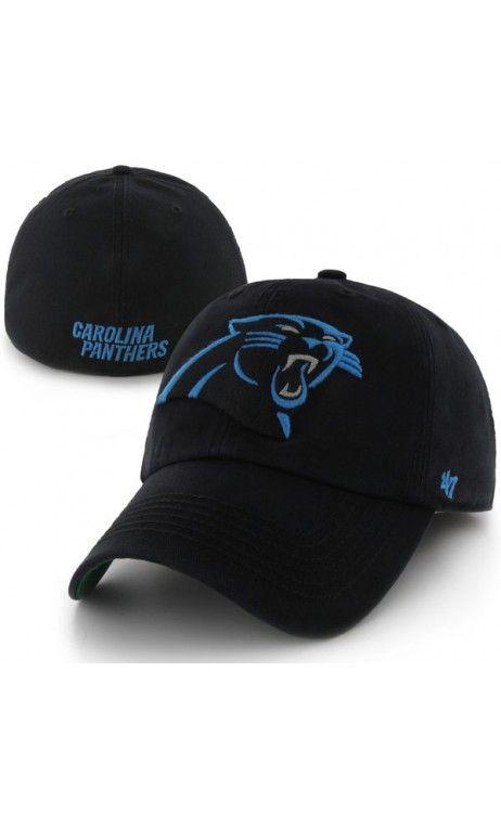 NFL Men s Carolina Panthers  47 Black Franchise Fitted Hat ... 0c438cd1010