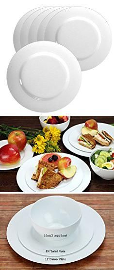 Melamine Plates White. Calypso Basics by Reston Lloyd Melamine Salad Plate Set of 6 & Melamine Plates White. Calypso Basics by Reston Lloyd Melamine Salad ...