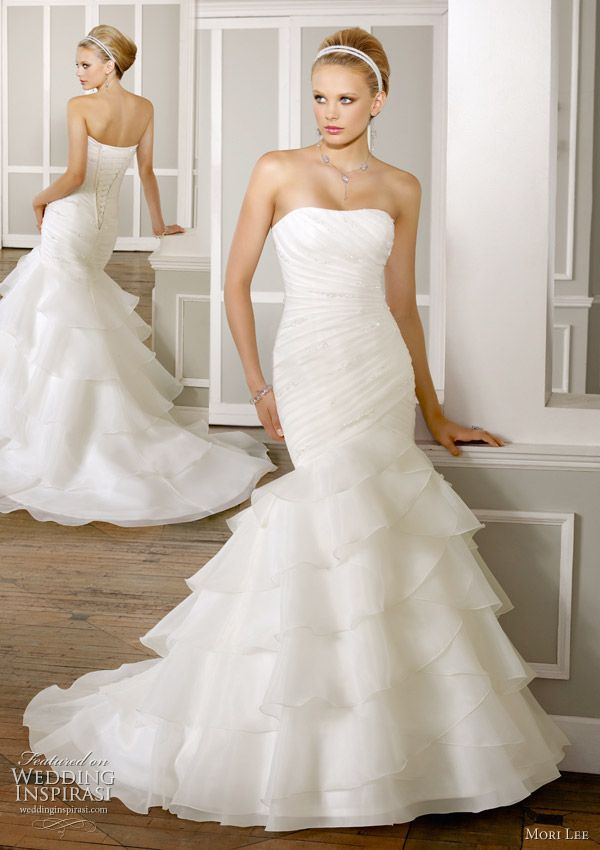 Mori lee wedding gowns 2011 bridal collection pinterest bodice ruffle skirt draped bodice wedding dress by mori lee spring 2011 bridal collection beaded organza removable one shoulder strap junglespirit Image collections
