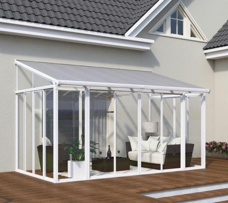 Pérgolas diseño de salones en el jardín protegidos del sol