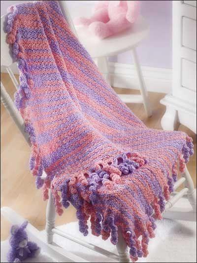 Swirly Fringed Blanket Free Crochet Pattern Crochet Baby Blankets
