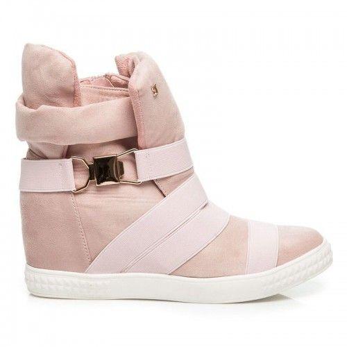 ea2614f6e8c Dámské kotníkové boty Poety růžové – růžová Krásné kotníkové boty na zimu  nejsou jen sen. Dámské sportovní boty na platformě se skrytým klínkem jsou  ...