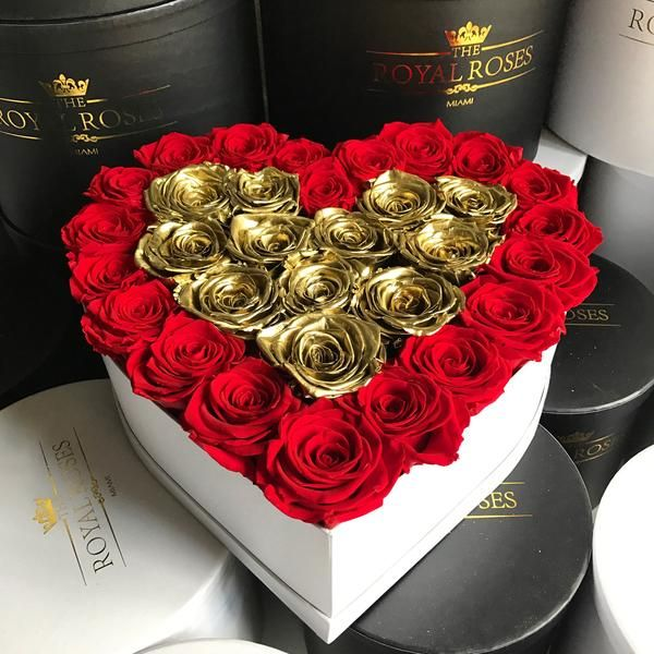 Real Long Lasting Roses Heart Shaped Box Lifetime Is Over 1 Year Heart Shape Box Preserved Roses Flower Box Gift