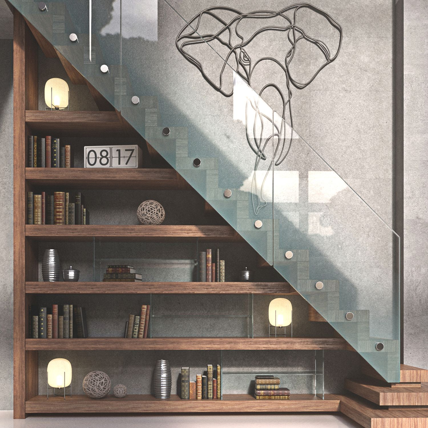 33 Staircase Designs Enriching Modern Interiors With: Luscious Interior Stairwell Rendered In KeyShot By Jon
