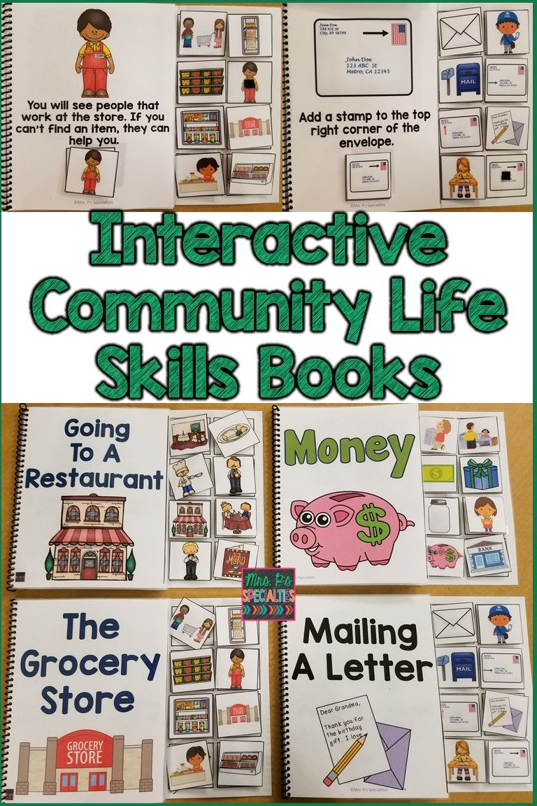 Community Skills Interactive Books (Life Skills) | Autism ...