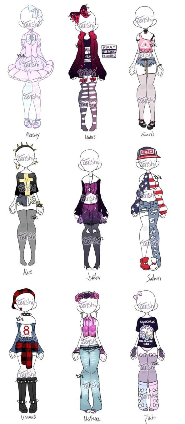 Pin by Blurry Seaven on ropa | Drawing anime clothes, Anime