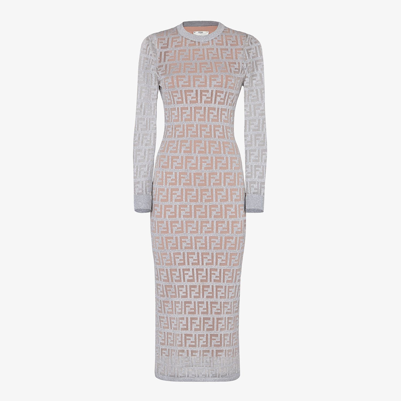 Silver Knitted Dress Dress Fendi Fendi Online Store Fendi Dress Knit Dress Designer Shirt Dresses [ 1500 x 1500 Pixel ]