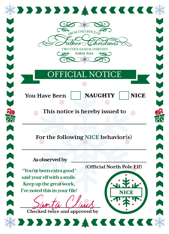 Elf On The Shelf Report Cards On Behance Elf On The Self Elf Christmas Elf